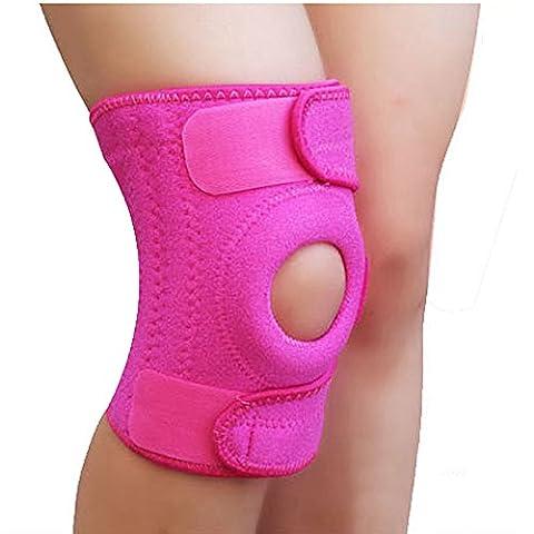 Sijueam; Neoprene Knee Support Brace Adjustable Velco Wraparound KneePads Anti Slip Open Patella for Injury Arthritis Rehabilitation Crossfit Outdoor Sports Running Weight Lifting Cycling -