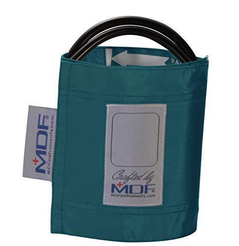 MDF® Latexfreie Blutdruckmanschette - Erwachsene - Zweischlauch (MDF2100450) (Dunkeltürkis) - Erwachsene Blutdruckmanschette