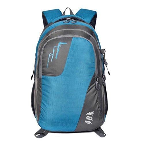 DONG Gli appassionati di outdoor zaino impermeabile campeggio viaggio ragazzi borsa , green Blue