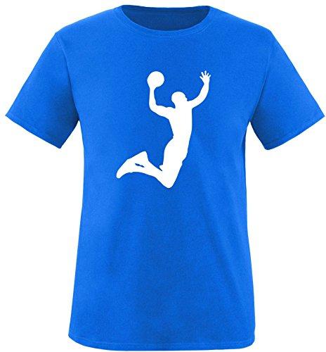 EZYshirt® Basketball | Slam Dunk Herren Rundhals T-Shirt Royal/Weiß
