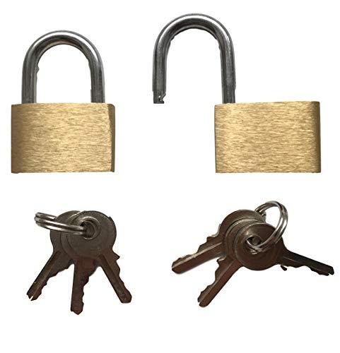 2x Candado/Pequeño Candado con tres llaves-Vers Perren de cremallera, bolsillos, ordenador portátil...