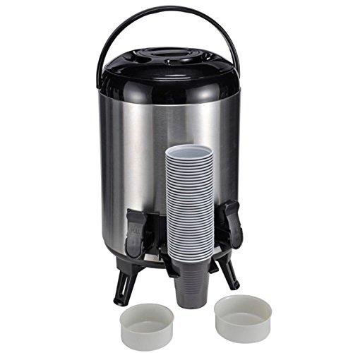 9 Liter Thermoskanne & 2 Zapfhähnen Große Isolierkanne Glühwein Spender Kessel Airpot -