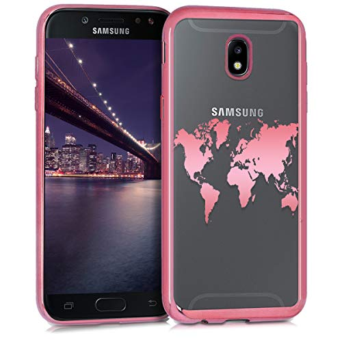 kwmobile Samsung Galaxy J7 (2017) DUOS Hülle - Handyhülle für Samsung Galaxy J7 (2017) DUOS - Handy Case in Rosegold Transparent Rosegold