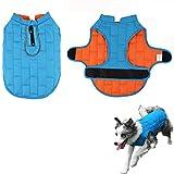 Kismaple Hundejacke, Winter, kalte Wetter, warm, reflektierend, wasserdicht, schneefest, Winddicht, Verstellbare Kleidung für Kleine Hunde