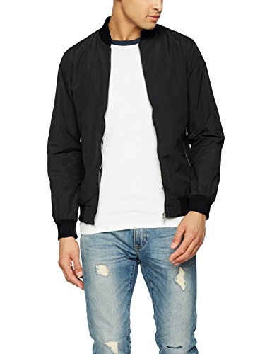 JACK & JONES Herren Bomberjacke Jornew Pacific Bomber, Schwarz (Black Black), Medium