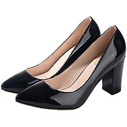 fereshte , Damen spitz , schwarz - schwarz - Größe: 39