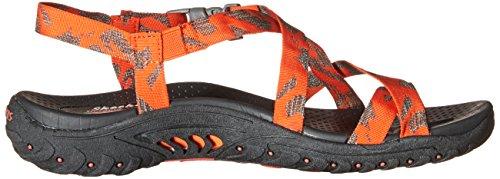 Skechers Reggae Toe Sandal Anneau Orange/Amp/Brown