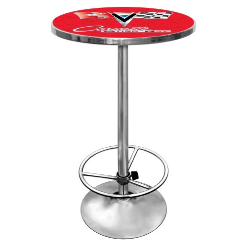 Trademark Gameroom Chevrolet Corvette chrom Pub Tisch