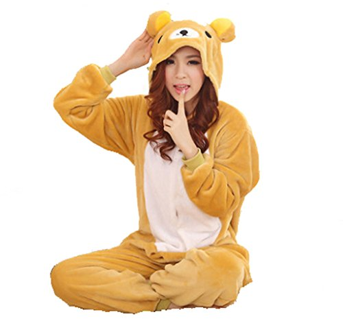 Winter Warm Flannel Onesie Pajamas Adult Unisex One Piece Cute Bear Pajama - 41 2B4EC0MKXL - Winter Warm Flannel Onesie Pajamas Adult Unisex One Piece Cute Bear Pajama