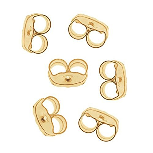 100x Milopon Ohrring Stopper Ohrstopper Klar Vergoldet Versilbert Ohrring Verschlüsse Rückseiten Silikonstopper Vintageparts für DIY Ohrstecker Ohrring Schmuck - Gold-ohrring-stopper