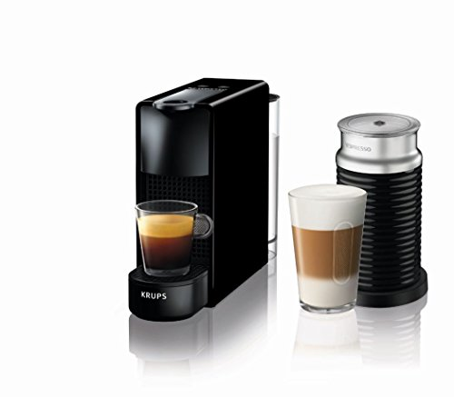Nespresso Essenza Mini Coffee Machine with Aeroccino, Black by Krups Best Price and Cheapest