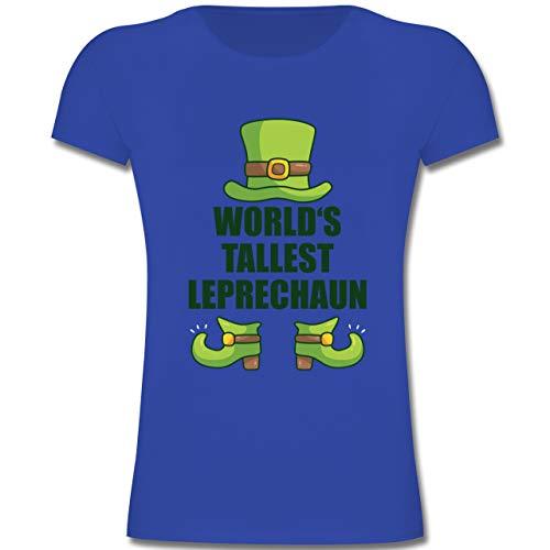 Anlässe Kinder - World's Tallest Leprechaun - 128 (7-8 Jahre) - Royalblau - F131K - Mädchen Kinder ()