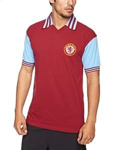 Score Draw Official Retro Aston Villa Mens 1981 shirt - Small, Claret and Blue