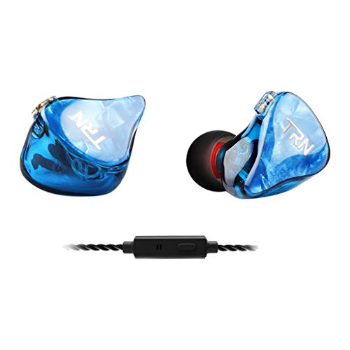 Subwoofer-Headset, Webla, Trn Im2 Earhifi Sechs-Einheiten-Ringeisen-Kopfhörer Telefon-Subwoofer, Verkabelt Mit Mikrofon, Pc-Blau (Bu)