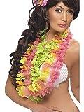 Fancy Ole - Kostüm Accessoires Zubehör 3er Pack hawaiianische Blumenketten, perfekt für Karneval, Fasching und Fastnacht, Mehrfarbig