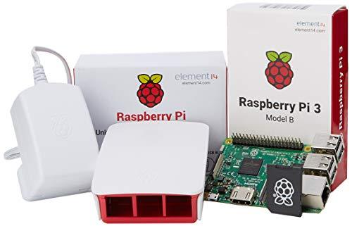 Raspberry Pi 3 Official Desktop Starter Kit (16GB, White) 1a Power Supply Kit
