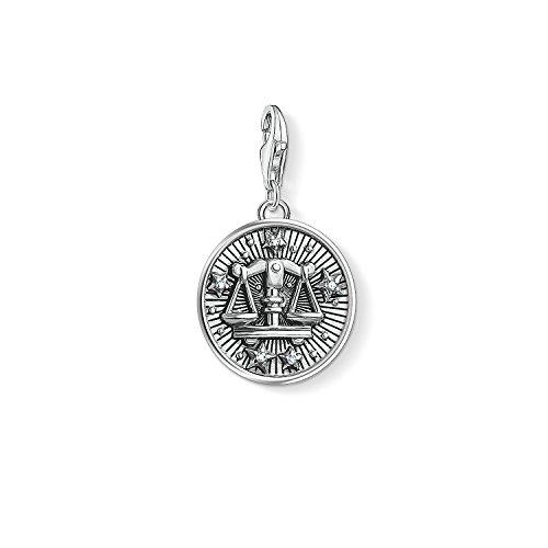 Thomas Sabo Damen Herren-Charm-Anhänger Sternzeichen Waage Charm Club 925 Sterling Silber 1646-643-21