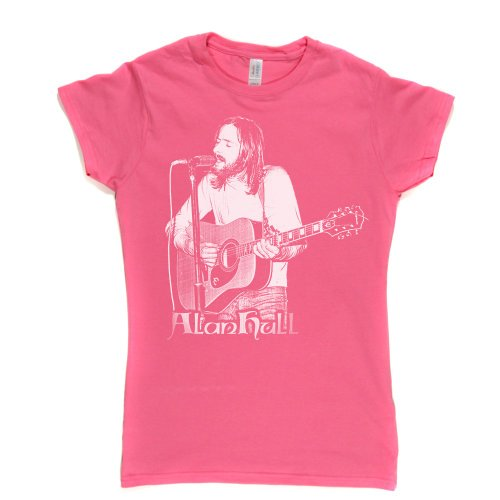 Alan Hull Womens Fitted T-Shirt Rosa