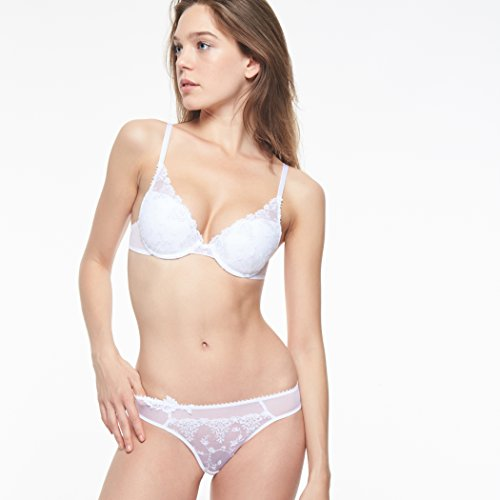 Passionata Damen Push-Up BH White Nights, Weiß (White Sparkle 2P), 75B - 2