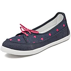 Asian Shoes Women's Canvas Casual Shoes (LR-71s7cNBLPNK__Navy Blue Pink_7UK/Indian)