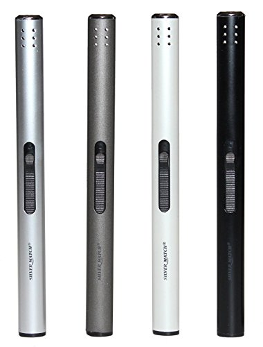 Feuerzeuge 4 Stück, Stabfeuerzeug Gas Aluminium 17 cm lang +1x (Konsumany® Stab- Stumfeuerzeug 12,5 cm Lang)