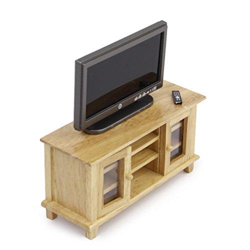 Armadio Per TV In Legno 1:12 Casa Delle Bambole In Miniatura Mobili