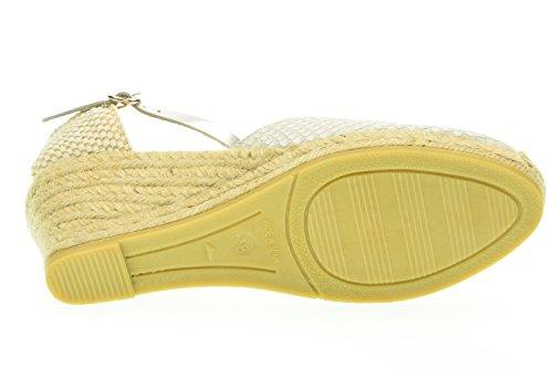 KANNA donna sandali con zeppa KV4087 Latte