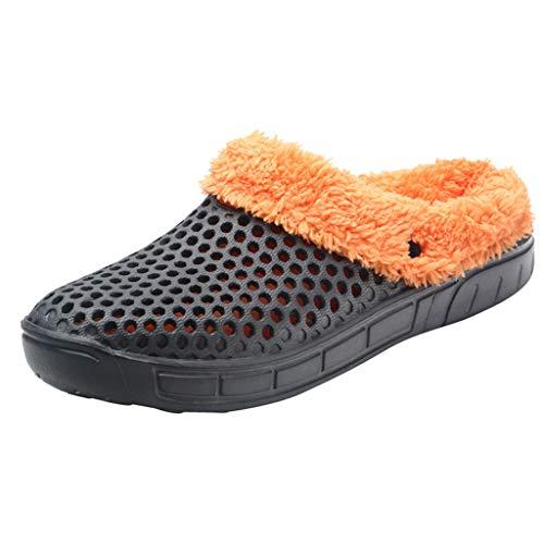 LMRYJQ Couple Men Winter Home Slippers Keep Warm Non-Slip Indoors Bedroom Floor Shoes Unisex - Erwachsene Clogs & Pantoletten