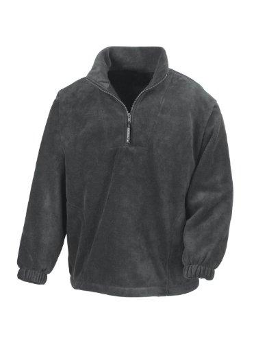 Sweatshirt col zippé homme Extérieur Result Active Gris Oxford XXL