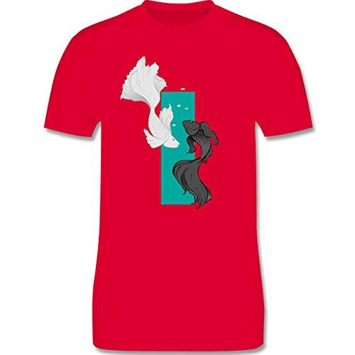 Sonstige Tiere - Fische Yin und Yang - Herren Premium T-Shirt Rot