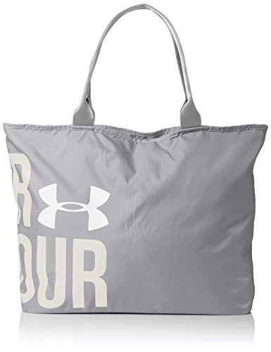 Under Armour UA Big Wordmark Tote - Borsa a tracolla da donna, Donna, umhängetasche Ua Big Word Mark Tote, acciaio, Taglia unica