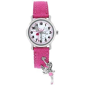 Pacific Time Mädchen Uhr Analog Quarz mit Textilarmband 86349