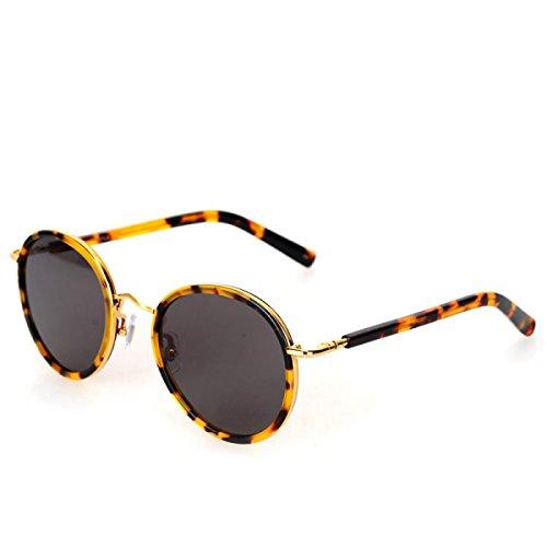 Wkaijc Runder Rahmen Reflektierend Stilvoll Personalisiert Komfortabel Kreativ Freizeit Sonnenbrillen Damen Sonnenbrille,C