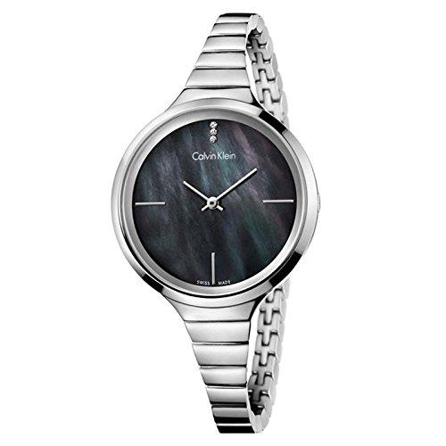 Orologio Calvin Klein Donna K4U2312S Al quarzo (batteria) Acciaio Quandrante Nero Cinturino Acciaio