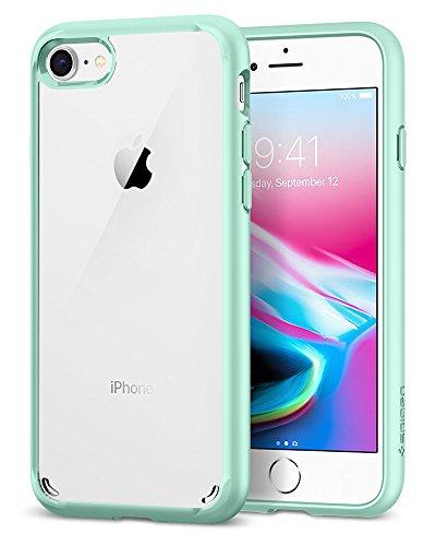 Spigen [Ultra Hybrid 2 Kompatibel mit iPhone 8/7 Hülle (042CS20925) Einteilige Handyhülle PC Rückschale Silikon Bumper Schutzhülle Case (Mint)
