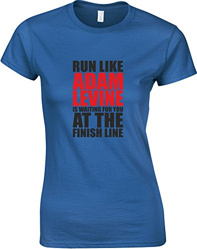run-like-adam-levine-is-waiting-gedruckt-frauen-t-shirt-konigsblau-schwarz-rote-m-82-86cm