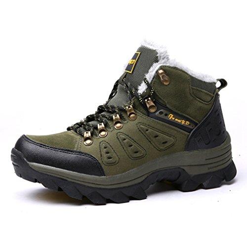 Automne Chaussures Hiver Mixte Adulte Laine Artificiel Chaud Compensé Escalade Outdoor Sports Chaussure