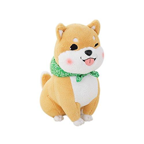 YINGGG Plüschtier Shiba Inu 45cm Hund Plüsch Kissen Weiches Spielzeug Tier Puppe, Braun Blinzeln -
