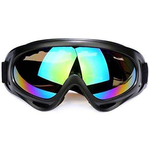Snowboard Maschera da sci Anti Nebbia Protezione Occhiali Protezione UV Goggles Occhiali anti-vento anti-Luce solare Anti-Sand per Moto Scooter