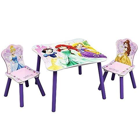 Sitzgruppe - Kindertisch - Kinderstuhl - Kindersitzgruppe mit Motivauswahl (Princess Schmuck)