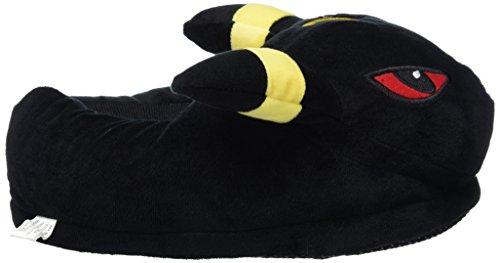 Carchet Witzige Pokemon Onesize Haus-Schuhe aus Plüsch für Erwachsene in vielen Designs Nachtara (Schwarz)
