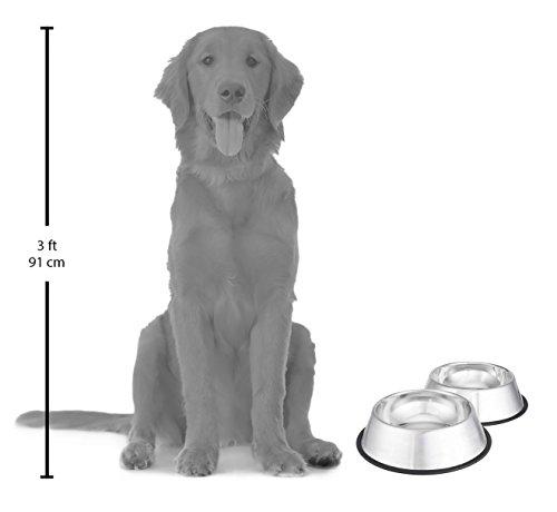 Hundenapf aus Edelstahl, 2er Pack - 2