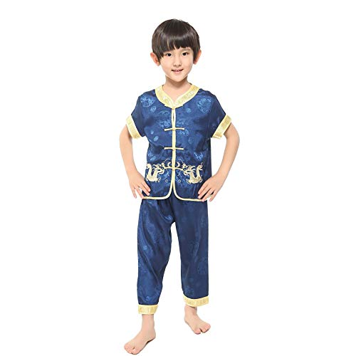 XFentech Jungen Tang Anzug - Kinder Kurze Ärmel -