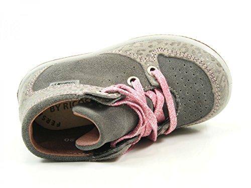 Ricosta Allanis Mädchen Hohe Sneakers Grau