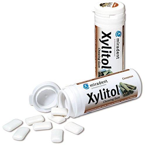 6x Miradent Xylitol Chewing Gum Zahnpflegekaugummis 30 Stück Dose zimt (6x 30g)