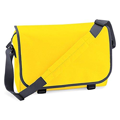 BagBase Messenger bag Gelb / Graphite Grau