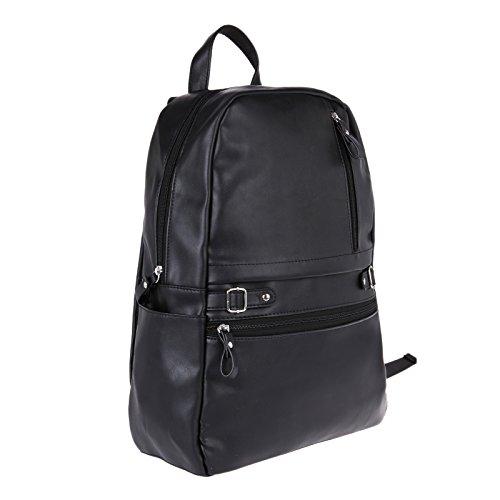 Best mens leather backpack in India 2020 Fur Jaden Black Artificial Leather Laptop Backpack Bag for Men Image 2