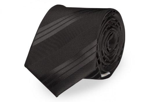 Moderne Fabio Farini Krawatte 8 cm in verschiedenen Farben, Schwarz mit breiten Streifen (Schwarzer Krawatte Krawatte Streifen)