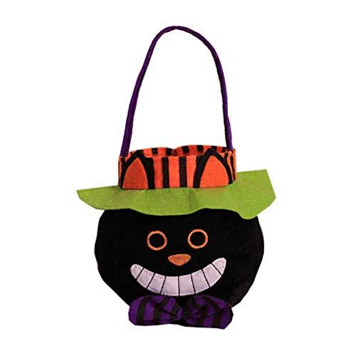 ten Tote Kürbis Kostüm Anzug Geschenke Dekoration Handtaschen für Kostüm Party (Schwarze Katze) ()