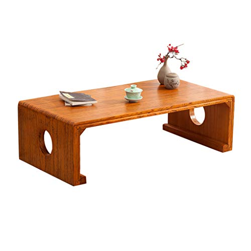 Weq Couchtisch Tatami-Tisch Antiker Klaviertisch Alter Ulmen-Teetisch Balkon Erker Kleine Schreibtisch Wohnzimmer Massivholz Tisch Schlafzimmer Bett Computer Schreibtisch -